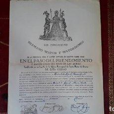 Documentos antiguos: PASO DEL PRENDIMIENTO,COFRADIA DE NUESTRO PADRE JESUS,SANTA MARIA DE GRACIA,ADMISION HERMANOS. Lote 206300505