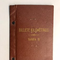Documentos antiguos: BARCELONA. CARPETA RED NACIONAL DE FERROCARRILES ESPAÑOLES. BILLETE KILOMÉTRICO (A.1954). Lote 206301040