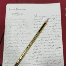 Documentos antiguos: BORMUJOS, SEVILLA, 1829, SOLICITUD DE CEDULAS A PERSONAS RELACIONADAS. Lote 206331231