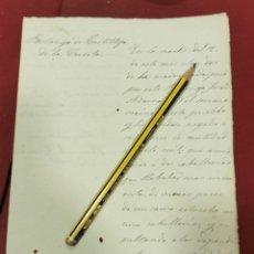 Documentos antiguos: CASTILLEJA DE LA CUESTA, 1879,DENUNCIA POR IMPAGO DE DERECHO DE PORTAZGO. Lote 206385865