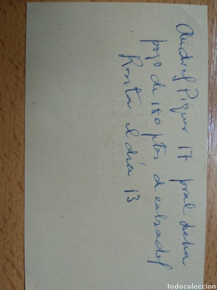 Documentos antiguos: TARJETA DE VISITA PUBLICITARIA. LOEWE, S.E., ARIES, S.A.. AGENTE COMERCIAL. ZARAGOZA. - Foto 2 - 206972273
