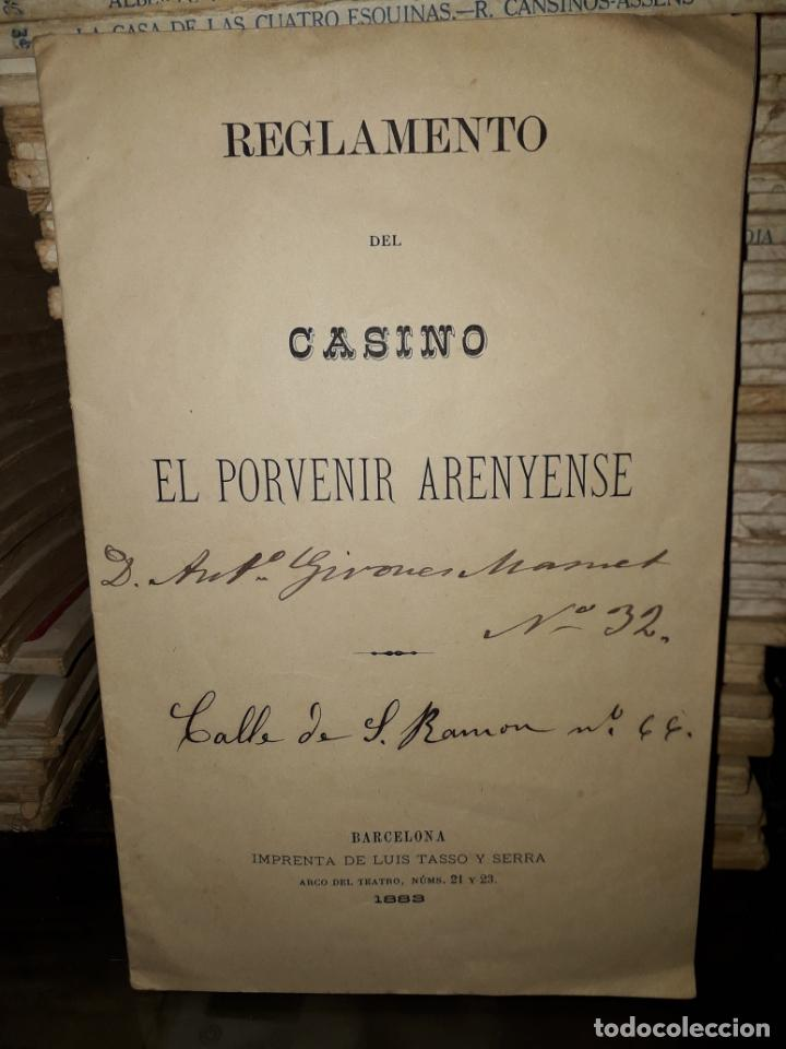 Documentos antiguos: REGLAMENTO DEL CASINO - Foto 1 - 206973828
