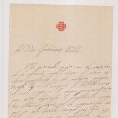 Documenti antichi: ORDEN MILITAR DEL SANTO SEPULCRO. CARTA Y DATOS DE INGRESO. 1895 SALVADOR Mª DE ORY. GERÓNIMO VALDÉS. Lote 207443252