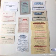 Documentos antiguos: POSTALES, CERTIFICADOS Y MANUAL DE INSTRUCCIONES ESCALEXTRIC. Lote 207530647