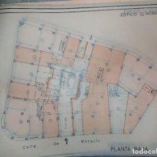 Documentos antiguos: PLANOS DELINEANTE BERGA EDIFICIO MORATIN 11 ONCE VALENCIA ENVIADOS A LEOPOLDO TARÍN CAMPOS CHESTE. Lote 208185281