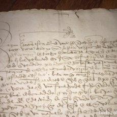 Documentos antiguos: 1511. CENSO DE UNA FANEGA DE TRIGO SOBRE UN MAJUELO EN VILLALDEMIRO, CELADA BURGOS. FIRMA ESCRIBANO.. Lote 208804696