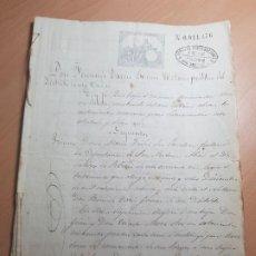 Documentos antiguos: ANTIGUO DOCUMENTO TESTAMENTO MORA ROS SAN ANTONIO ABAD CARTAGENA MURCIA 1883. Lote 209087430