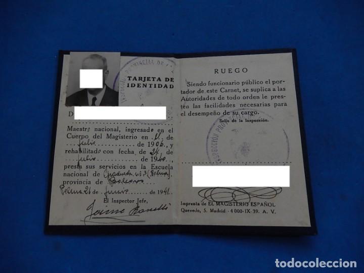 Carnet Tarjeta Identidad Ministerio Educación Vendido En Subasta 209712372