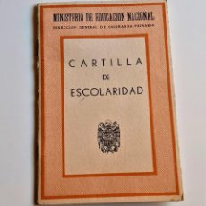 Documentos antiguos: CARTILLA DE ESCOLARIDAD 1954. Lote 209836032