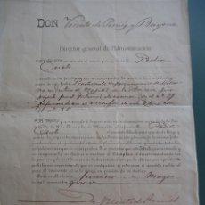 Documentos antiguos: DOCUMENTO FIRMADO POR LA HERMANA DE ISABEL II DE ESPAÑA. Dª MARÍA CRISTINA MUÑOZ Y BORBÓN EN 1915.. Lote 209943301