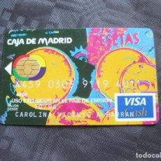 Documentos antiguos: TARJETA BANCARIA DE CAJA DE MADRID - CADUCA 1996. Lote 209967040