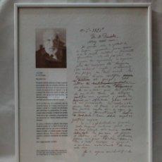 Documentos antiguos: CARTA DE RAMON Y CAJAL EN RESPUESTA AL DR.M.PONCELA AÑOS 1926 - COTEC 1992. Lote 210267026
