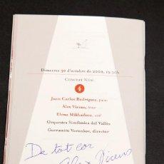 Documentos antiguos: ALEX VICENS - AUTÓGRAFO. Lote 210315905