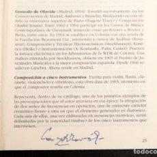 Documentos antiguos: GONZALO DE OLAVIDE - AUTÓGRAFO. Lote 210316751