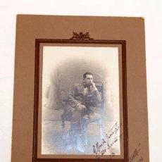 Documentos antiguos: MUSICO DESCONOCIDO - FOTOGRAFÍA DEDICADA. Lote 210316915