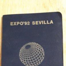 Documentos antiguos: 1 PASAPORTE ** EXPO 92 1992 SEVILLA EXPOSICION UNIVERSAL** CON 42 SELLOS. Lote 210326375