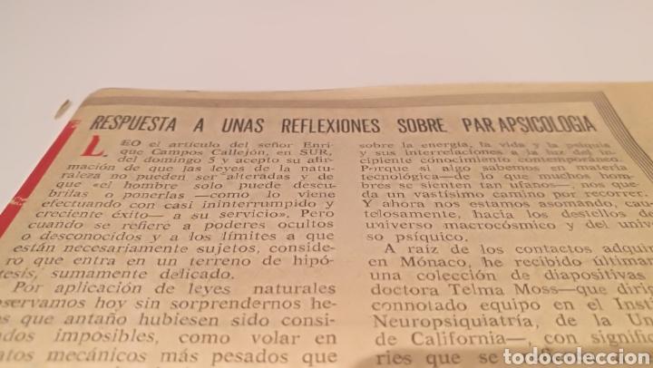 Documentos antiguos: Recorte de parapsicología 1975 sur - Foto 2 - 210374210