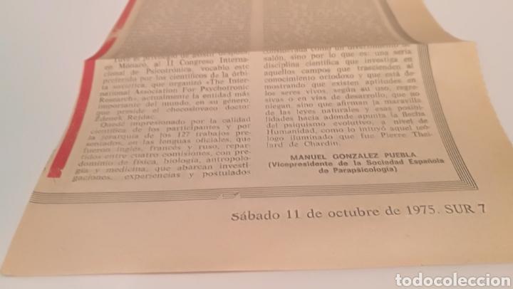 Documentos antiguos: Recorte de parapsicología 1975 sur - Foto 3 - 210374210