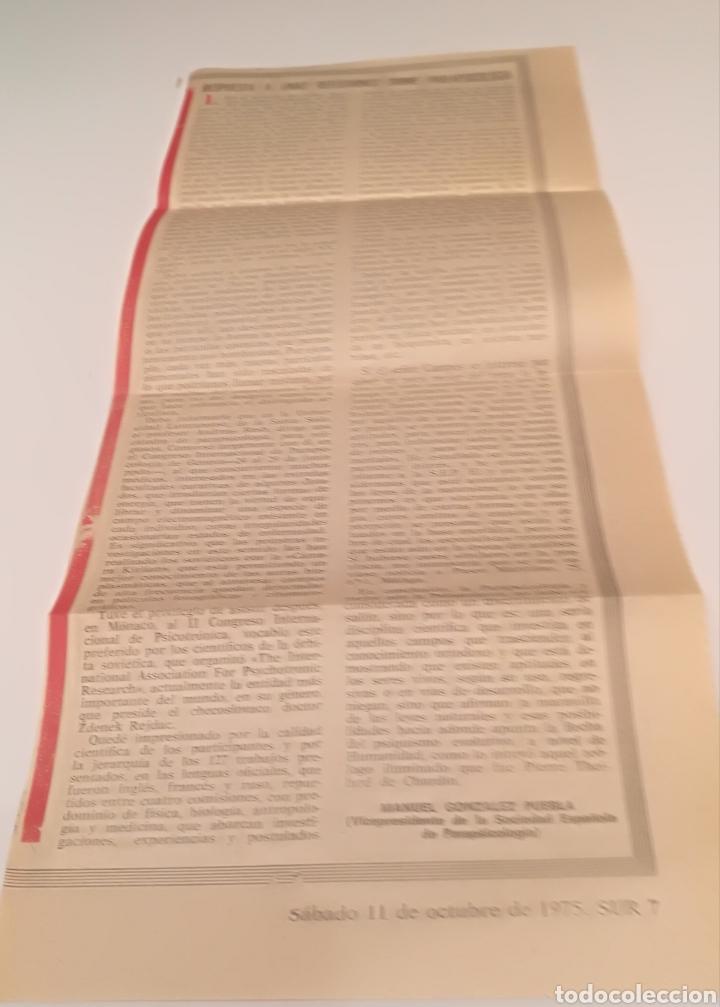 RECORTE DE PARAPSICOLOGÍA 1975 SUR (Coleccionismo - Documentos - Otros documentos)