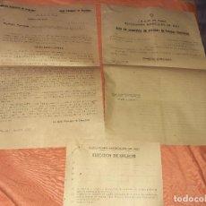 Documentos antiguos: ANTIGUO PAPELETE DE ELECCIONES SINDICALES 1957 ,C.N.S ARUCAS GRAN CANARIA. Lote 210384830