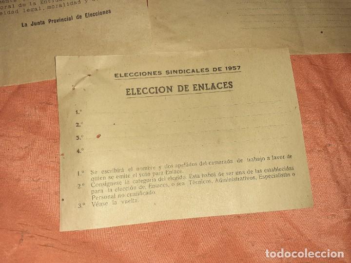 Documentos antiguos: Antiguo papelete de elecciones sindicales 1957 ,c.n.s arucas gran canaria - Foto 4 - 210384830