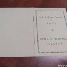 Documentos antiguos: ALCOY ESCUELA DE MAESTRÍA INDUSTRIAL.. Lote 210384997