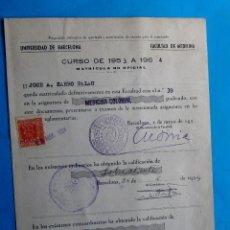 Documentos antiguos: UNIVERSIDAD DE BARCELONA. FACULTAD DE MEDICINA. MATRICULA DE MEDICINA COLONIAL, 1954.. Lote 210957697