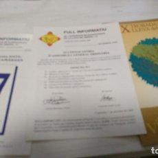 Documentos antiguos: LOT 3 DOCUMENTS DE 2000 ASSOCIACIÓ LLEVA BIBERÓ (GUERRA CIVIL, 1936 - 1939). Lote 211256021