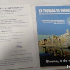 Documentos antiguos: LOT 2 DOCUMENTS DE 2001 ASSOCIACIÓ LLEVA BIBERÓ (GUERRA CIVIL, 1936 - 1939). Lote 211256066