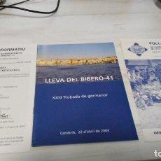 Documentos antiguos: LOT 3 DOCUMENTS DE 2004 ASSOCIACIÓ LLEVA BIBERÓ (GUERRA CIVIL, 1936 - 1939). Lote 211256335