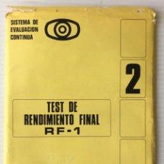 Documentos antiguos: TEST DE RENDIMIENTO FINAL 2. EDUCACIÓN SANTILLANA.. Lote 211398046