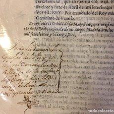 Documentos antiguos: ARANJUEZ 1727 EL REY: LA CONTADURIA DE VALORES RESULTAN A FAVOR DE MI REAL HAZIENDA. Lote 212004232