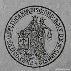 Documentos antiguos: DOCUMENTO FIRMADO POR EL PREPÓSITO GENERAL DE LOS CARMELITAS DESCALZOS. ROMA, 1904. Lote 212289551