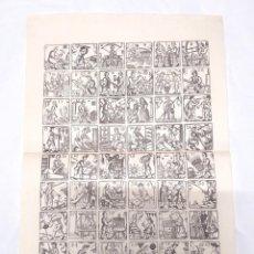 Documentos antiguos: AUCA OFICIOS EDAD MEDIA, PAPEL DE HILO. MED. 33 X 46 CM. Lote 212323331