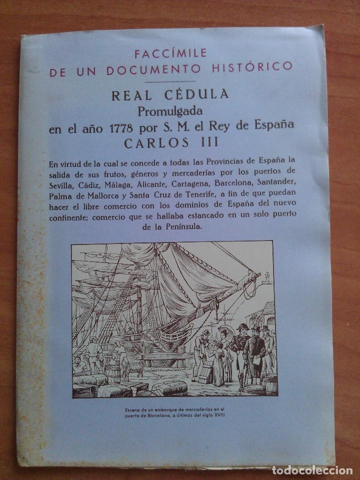1778 REAL CEDULA DE S. M. Y SEÑORES.. / EDICIÓN FACSIMIL (Coleccionismo - Documentos - Otros documentos)