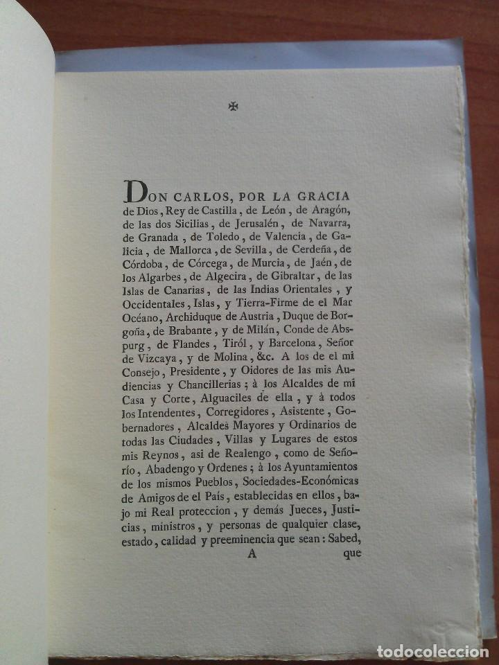 Documentos antiguos: 1778 REAL CEDULA DE S. M. Y SEÑORES.. / EDICIÓN FACSIMIL - Foto 3 - 212438953