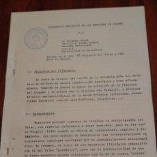 Documentos antiguos: ITINERARIO GEOLOGICA DE LAS MONTAÑAS DE PRADES - VER FOTOS 2 MAPAS - ARBOLI LA MUSARA LA FEBRO. Lote 212499897
