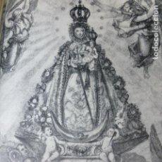 Documentos antigos: MURCIA VIRGEN DE LA FUENSANTA ANTIGUO HUECOGRABADO. Lote 212522451