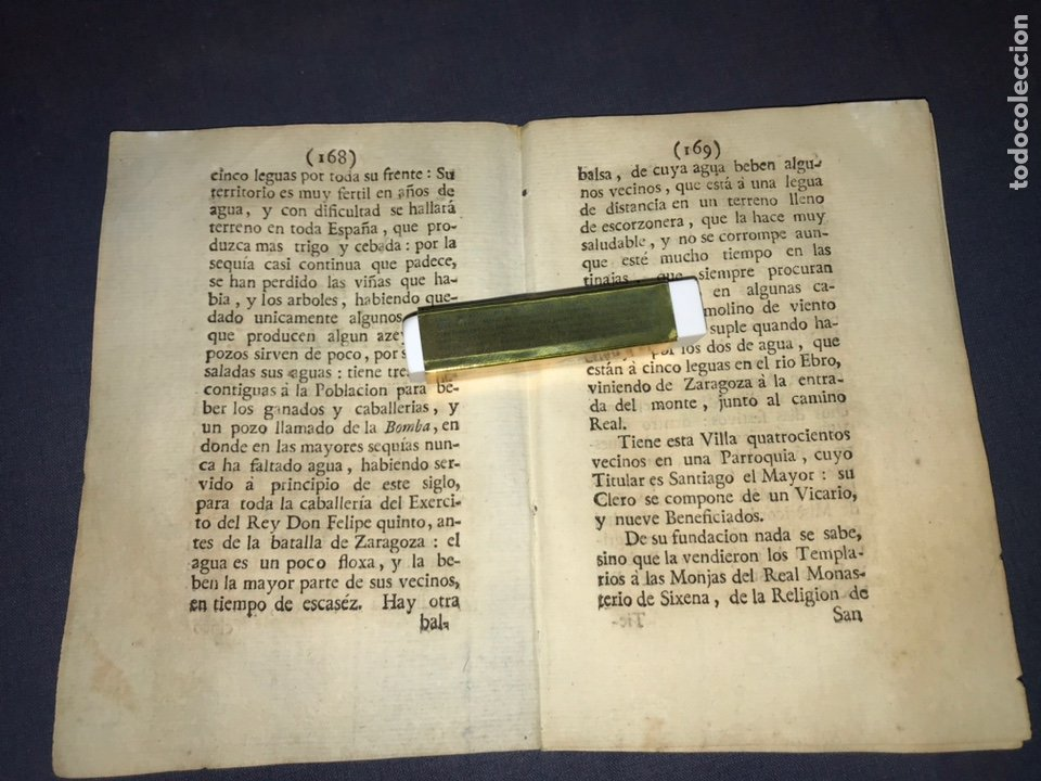 Documentos antiguos: DESCRIPCIÓN DE LA VILLA DE BUJARALOZ, DEL AÑO 1779. IMPRESO ORIGINAL. - Foto 2 - 233724905