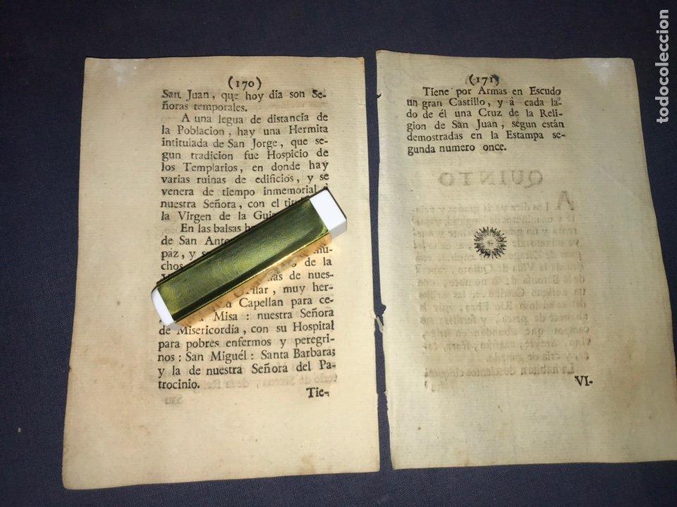 Documentos antiguos: DESCRIPCIÓN DE LA VILLA DE BUJARALOZ, DEL AÑO 1779. IMPRESO ORIGINAL. - Foto 3 - 233724905