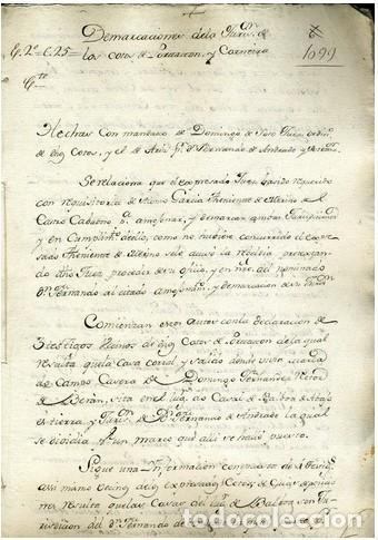DOC. DEMARCACIONES DE UN COTO. 1600. (Coleccionismo - Documentos - Otros documentos)