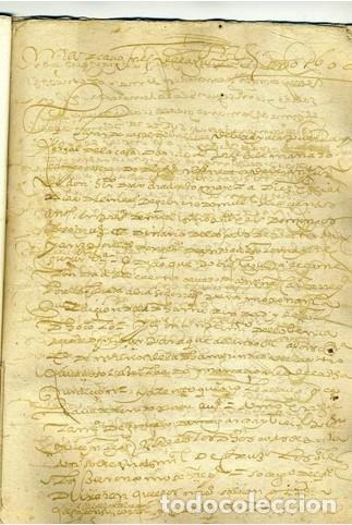 Documentos antiguos: DOC. DEMARCACIONES DE UN COTO. 1600. - Foto 2 - 213432173