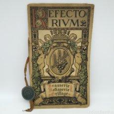Documentos antiguos: GRAN CARTA DEL ANTIGUO RESTAURANTE REFECTORIUM DE BARCELONA AÑOS 1917 A 1925. Lote 213460427