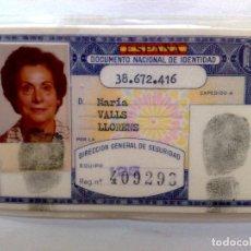 Documentos antiguos: ANTIGUO DOCUMENTO NACIONAL DE IDENTIDAD (D.N.I.) EXPEDIDO 1981 DE PERSONA NACIDA 1925 EN BADALONA.. Lote 213527491