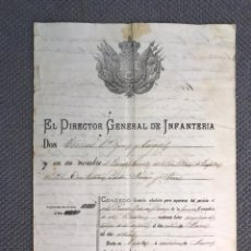 Documentos antiguos: TAFALLA - MILITAR. BATALLON DE RESERVA DE TAFALLA NO.126, CONCEDO.., LICENCIA ABSOLUTA (A.1888). Lote 213584367