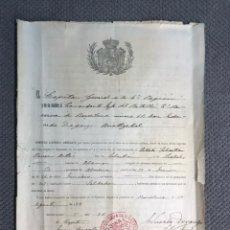 Documentos antiguos: BARCELONA - MILITAR. BARCELONA BATALLON 2A. RESERVA NO.27, EL CAPITAN GENERAL DE LA 4A. REGIÓN.. Lote 213591380