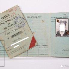 Documentos antigos: 2 TÍTULOS DE IDENTIDAD Y VIAJE / PASAPORTES FRANCESES / TITRE DIDENTITÉ ET DE VOYAGE, FRANCIA, 1946. Lote 213624745