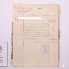 Documentos antiguos: DOCUMENTOS DE BAJA DE MOTOCICLETA MONTESA EN EL CENSO DE REQUISA MILITAR - BARCELONA, 1957. Lote 213684023