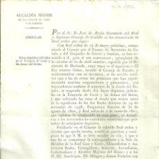 Documentos antiguos: VIC2.- REAL ORDEN CIRCULAR SOBRE DEPOSITOS JUDICIALES EN LA TESORERIA DE CORTE Y LAS DEMAS REINO. Lote 213719860