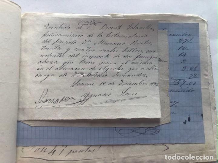 LOARRE 1877 ( HUESCA ) LOTE DE 17 DOCUMENTOS / RECIBOS VARIOS, GASTOS, CONTRIBUCION (Coleccionismo - Documentos - Otros documentos)